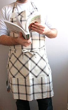 Mens chef apron by SSatHome on Etsy, $40.00