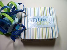 Snowy Day Mini Album, Snowy Scrapbook, Snowy Photo Album, Snowy Brag Book, Snowy Day Album, Snowy Mini Album, Snowy by HampshireRose on Etsy