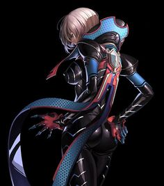 Character, Sexy Comic Girl, Future Girl, Futuristic Suit, Anime, Futuristic Clothing, Girl in Black, Science Fiction, Soo-kyung Oh