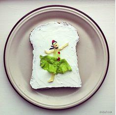 Famous Paintings on Toast by Ida Skivenes
