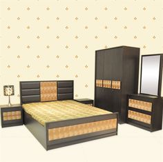 This Bedroom set has a brilliant look with a rich and elegant touch to it. It is a perfect blend of style and comfort. Home Office Furniture, Bedroom Furniture, Bedroom Photos, Online Furniture Stores, At Home Store, Living Room, Stuff To Buy, Touch, Elegant