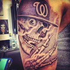 Westside skull tattoo