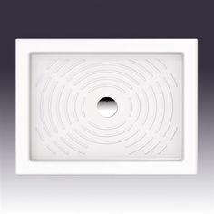 Brusekar Olimpo 80x60 cm. Enkelt og smukt fremstillet i porcelæn.  DESIGN4HOME #brusekar #brusebund #badeværelse Design