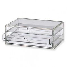 So stoked about the Muji acrylic drawers I just purchased for makeup storage. Learned via my internet research that they are all the rage. #makeupstorage #makeup organization #clearstorage