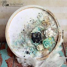Retro Kraft Shop: Retro Inspiracje: Na tamborku / Retro Inspirations: On an embroidery hoop