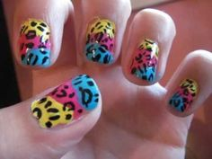10 Minute Nails: Colorful Leopard Nail Tutorial Beauty Tutorials, Nail Tutorials, Leopard Nails, Nail Art Videos, You Nailed It, Hair And Nails, Brandi Carlile, Nail Designs, Art Nails
