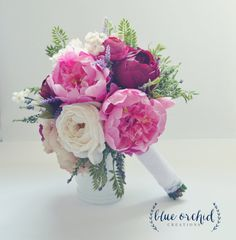 Peony and Rose Bouquet with Wildflowers in Pink, Purple, Cream, Plum and Burgundy, Silk Wedding Bouquet, Marsala Wedding Flowers