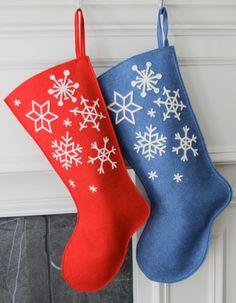 Handmade Wool Felt Christmas Stocking: Celebrate por MyPerennial