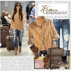 """1085. Celeb Style : Kim Kardashian (08.09.2010)"" by munarina on Polyvore"
