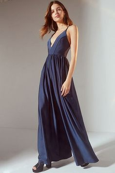 ff3d6259baf Navy shimmery goddess jumpsuit High Street Bridesmaid Dresses