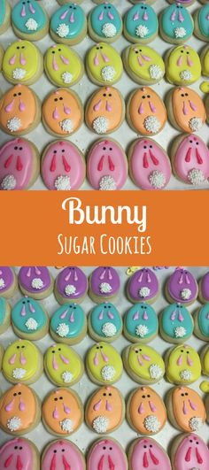 Pastel mini bunny cookies #affiliate