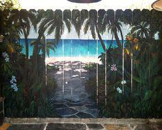 Wooden Fence Murals | El Segundo Rose's beach - Mural Album in El Segundo, California