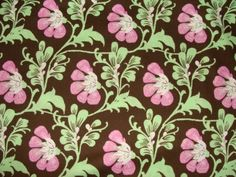 SALE Amy Butler Fabric / Sweet Jasmine in Brown / Daisy by mimis, $5.00