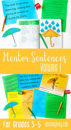 Using mentor sentences from your favorite read-aloud books is a great way to teach grammar and author's craft! This bundle includes everything you need to implement mentor sentences in your 3rd, 4th, and fifth grade classrooms all year long. Click the pin to see the activities included!