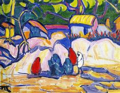 Village In India Artwork By Marguerite Thompson Zorach Oil Painting & Art Prints On Canvas For Sale Fauvism Art, American Artists, Female Art, Canvas Art Prints, Online Art, Hand Painted, India, Paintings, Painting Art