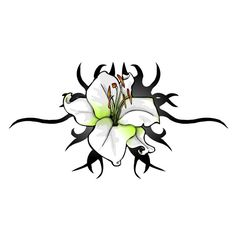 tribal flower tattoos for ladies | Tattoo Flower designs lily flowers tribal oran.... >> Discover more by visiting the picture