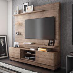 Quer deixar sua sala de estar mais aconchegante e arrojada? Aposte num rack para TV. Além de deixar o ambiente mais bonito, ajuda na organização do cômodo. ;)     #decoração #design #madeiramadeira