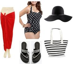 plus size summer- pool outfit