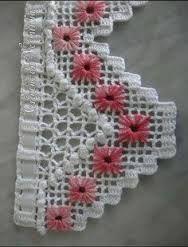 Easiest Crochet Frills Border Ever! Crochet Boarders, Crochet Lace Edging, Crochet Squares, Thread Crochet, Crochet Trim, Love Crochet, Filet Crochet, Crochet Doilies, Crochet Yarn