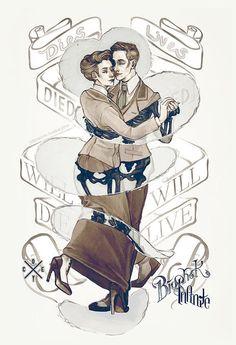 BioShock Luteces Dancing  Coey Kuhn digital print by 13crowns, $18.00