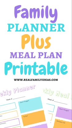 Family Planner, Meal Planning Printable, Grocery Lists, Mom Blogs, Free Printables, Meals, Activities, How To Plan, Day