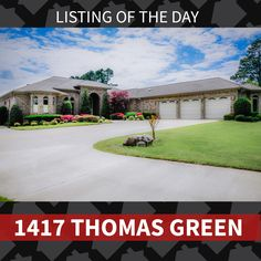 Featured Listing of the Day: 1417 Thomas Green.  Contact the#1real estate team in Jonesboro today to see this gorgeous home!   *This property is listed with a licensed Burch & Co. Real Estate agent.#burchandco #realestate#realtor #arkansas#jonesboro #jonesbororealestate #arkansasrealestate#property #forsale #houseforsale #listingoftheday#featured #home#buy#buyrealestate #newhome#househunting