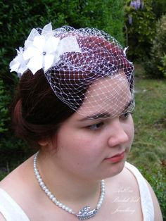 Bridal veil set set of 3 pieces bag flower by ArtEraBridal on Etsy
