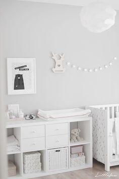 Baby nursery grey, ikea baby room, baby room storage, grey white nursery, r Baby Bedroom, Baby Boy Rooms, Baby Room Decor, Ikea Baby Room, Nursery Room, Baby Room Grey, Room Baby, Nursery Furniture, Ikea Furniture