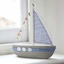 """Sailing Day"" Fabric Bunting Boat"