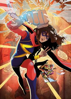 Ms Marvel  Ms Marvel Gallery quality print on thick 45cm / 32cm metal plate. Each Displate print verified by the Production Master. Signature and hologram added to the back of each plate for added authenticity & collectors value. Magnetic mounting system included.  EUR 39.00  Meer informatie