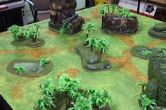 Check out our newest completed project, a jungle terrain with lots of Orkzy influences! #wargaming #terrain #40k #warhammer40k