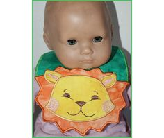 Baby and doll size bibs in the hoop by Hatched in Africa