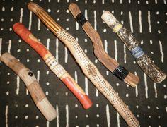 An array of talking sticks...