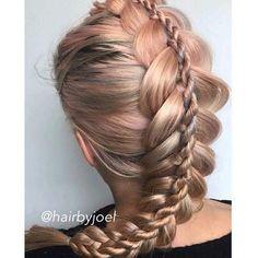 Creative Braiding by @hairbyjoel ✨ Stacked Dutch Braid + TopFrench Twist…