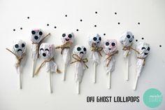 DIY Ghost Lollipops for Halloween
