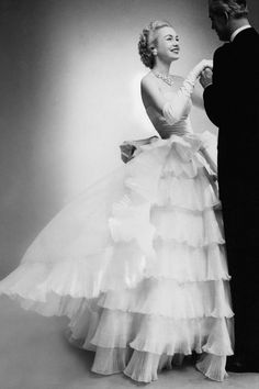 Belle of the Ball in Balenciaga. Vogue 1951. Photographer unknown