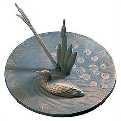 Whitehall Loon Sundial Verdigris by Woodside Gardens. $49.00. Made in the USA. Hand Cast, Hand Painted, Hand Finished. Recycled Aluminum. Uniquely Styled. Rust-Free. The Whitehall Products Loon Sundial - Verdigris is the perfect final touch to your outdoor living area. Featuring rust-free, recycled aluminum construction, this carefully finished sundial comes complete with unique loon accents.