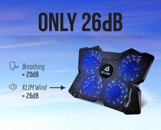 KLIM Wind Laptop-PC Kühler – Leistungsstark wie kein anderer – Schneller Kühlvorgang - 4 Lüfter Belüfteter Notebookständer Gamer Gaming Stützhalterung  EUR 24,90