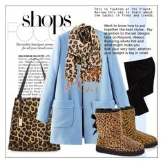 """""""Warm coat comfy shopping outfit"""" by frenchfriesblackmg ❤ liked on Polyvore featuring mode, Old Navy, Urban Originals, BP. et UGG Australia"""