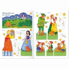 * Sneeuwwitje ....voor bv de verteltafel Paper Dolls, Fairy Tales, Wonderland, Paper Crafts, Kids Rugs, School, Fairy Tail, Short Stories, Speech Pathology