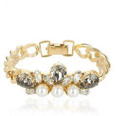 Anton Heunis Schmuck – Crystal Cluster Bracelet Cream Pearls – in gold – Schmuck für Damen
