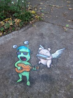 "David Zinn: Sluggo sings his latest hit, ""She Promised Me Sugar But Sure Stung Like Salt"" with Porkchops McFly on harp."