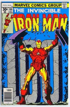 Iron Man #100 Cover Art by Jim Starlin