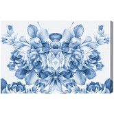 Found it at Joss & Main - Floral Madness Blue Canvas Print, Oliver Gal