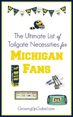 Love the University of Michigan (or any college!)? Check out this list of awesome college themed tailgate necessities to rock football season this year.