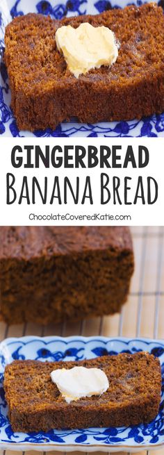 Gingerbread Banana Bread - A super healthy and delicious homemade breakfast recipe: 1 cup mashed banana, 2 tsp cinnamon, tsp cloves, cup. Köstliche Desserts, Delicious Desserts, Dessert Recipes, Food Cakes, Holiday Baking, Christmas Baking, Christmas Gifts, Gingerbread Banana Bread, Vegan Gingerbread