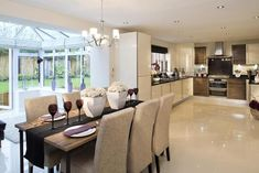 A Typical Taylor Wimpey Kitchen Open Plan Kitchen Living Room, Open Plan Living, Luxury Kitchens, Home Kitchens, Kitchen Interior, Kitchen Design, Kitchen Ideas, Modern Interior, Wimpey Homes