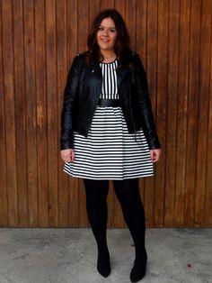 OUTFIT: Rayas de Nochehttp://www.vistetequevienencurvas.com/2014/02/outfit-rayas-de-noche.html #curvy #honoryourcurves #curves #curvy #women #big #plussize #dress #forever21