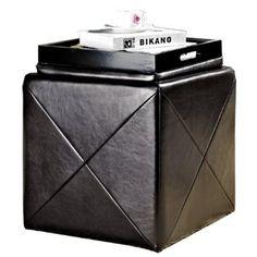 Amazon.com: Abbyson Living Bentley Bonded Leather Cube Storage Tray Otoman: Home & Kitchen