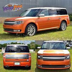Ford Flex Color Change & Stripes | BB Graphics & The Wrap Pros Ford Flex, Vehicle Wraps, Car Wrap, Station Wagon, Car Stuff, Buses, Color Change, Cool Cars, Image Search